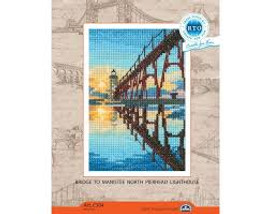 Bridge to Manistee Cross stitch Kit by RTO
