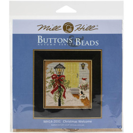 Christmas Welcome Cross Stitch Kit by Mill Hill
