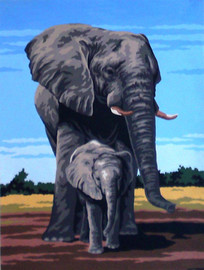 Elephants Tapestry Canvases by Gobelin