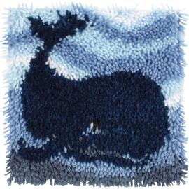 "Big blue whale Latch Hook Kit 12""X12"" by caron wonderart"