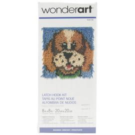 "Puppy Latch Hook Kit 8""X8"" by wonderart"