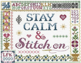 Stay calm & Stitch on cross stitch chart by Sandra Cozzolino