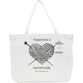 Happiness is homemade Canvas Project Bag by Faire isle