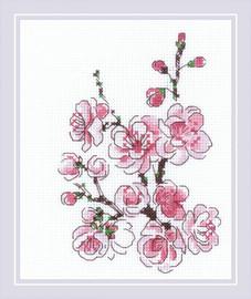 The Branch of Sakura Cross Stitch Kit by Riolis