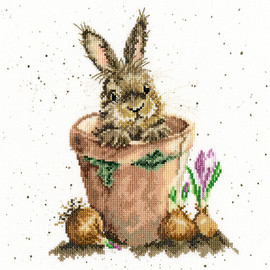 The Flower Pot Cross Stitch Kit By Wrendale Designs