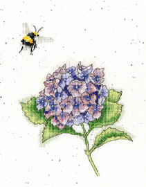 The Busy Bee Cross stitch Kit by Wrendales Designs