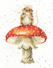 He's A Fun-Gi Cross Stitch Kit by Wrendales Designs
