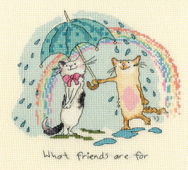 What Friends are For Cross Stitch Kit by Bothy threads