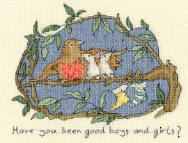 Have you been good Cross stitch Kit By Bothy threads