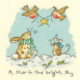 Star in the bright Sky Cross Stitch Kit by Bothy threads