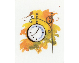 Printed Station Clock Paint By Threads Cross Stitch Kit By RTO