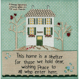 Home is a Shelter Cross Stitch Kit by Mill Hill
