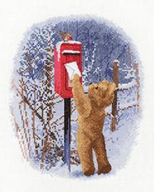 Christmas Post Cross stitch Kit by Heritage Crafts