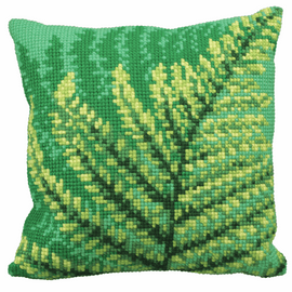 Green Fernes Chunky Cross Stitch Kit by Vervaco