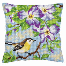 Little Titmouse on a Branch Chunky Cross Stitch Kit by Vervaco