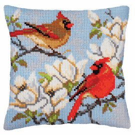 On a Branch of Magnolia Chunky Cross Stitch Kit by Vervaco