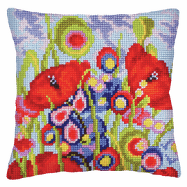 Red Poppies Chunky Cross Stitch by Vervaco