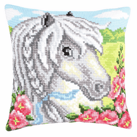 White Pony Chunky Cross Stitch Kit by Vervaco