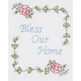 Bless Our Home Sampler Cross Stitch Kit by Jack Dempsey