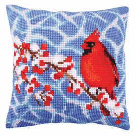 Winter Red Berries Chunky Cross Stitch Kit by Vervaco