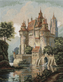 Panna Castle in the Mountains Counted Cross Stitch Kit