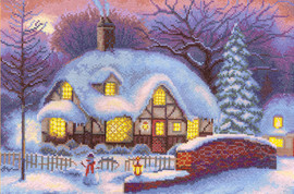Panna Winter Cottage Counted Cross Stitch Kit