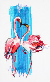 Flamingos Counted Cross Stitch Kit by Panna