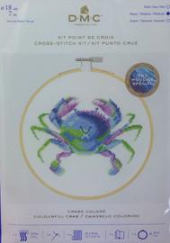Colour Crab Cross Stitch Kit By DMC