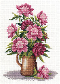 Peony Bunch Counted Cross Stitch Kit By Panna