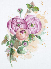 Ranunculus Counted Cross Stitch Kit By Panna