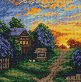 The Colours of Spring Counted Cross Stitch Kit By Panna