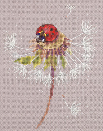 Ladybird on Dandelion Counted Cross Stitch Kit By Panna