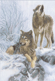 Winter Wolves Counted Cross Stitch Kit By Panna