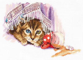 Naughty Cat Counted Cross Stitch Kit By Panna