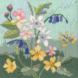 Seasons: Spring Long Stitch Kit by Bothy threads