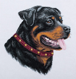Rottweiler Counted Cross Stitch Kit by Panna