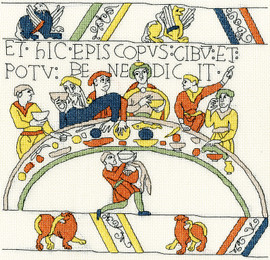 The Bishop's Feast - Bayeux Cross Stitch Kit by Bothy Threads