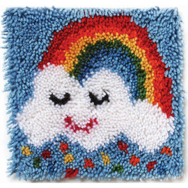 "Rainbow Sprinkles Latch Hook Kit 12""X12 By Wonderart"