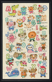 Cute Animals ABC Counted Cross Stitch Kit By Design Works