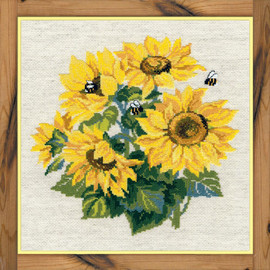 Sunflowers Counted Cross Stitch Kit By Riolis