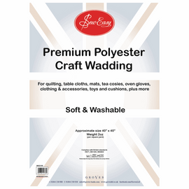 Poly Wadding: 2oz: 100 x 100cm (40in) By Groves And Banks