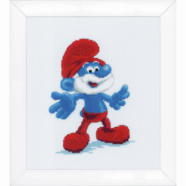 Counted Cross Stitch Kit: The Smurfs: Papa By Vervaco