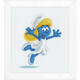 The Smurfs cross stitch Kit Smurfette by groves and banks