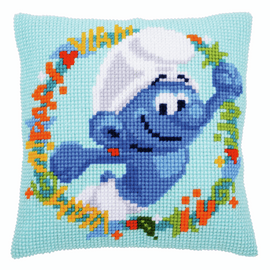 The Smurfs hefty Chunky Cushion Cross Stitch Kit  by groves and banks