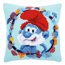 The Smurfs Papa Chunky Cushion kit by groves and banks