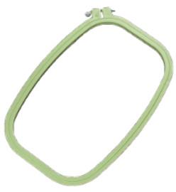 """Rectangular plastic hoop 6.5"""" x 9.5"""""""
