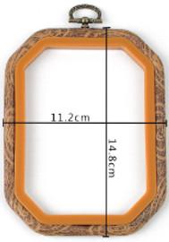 """4"""" x 5"""" Octagonal flexi hoop By Siesta"""
