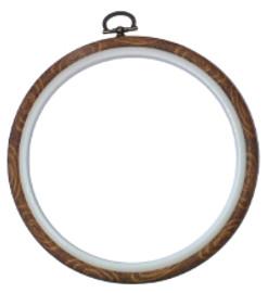 """9"""" Woodgrain flexi hoop By Siesta"""