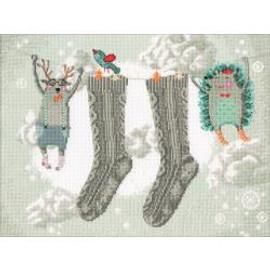 Winter Cares Cross Stitch Kit by RTO