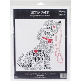 """Lets Bark Counted Cross Stitch Kit 7.25""""X7.75"""" By Imaginating"""